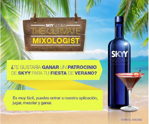 SKYY Vodka te transforma en un experto mixólogo