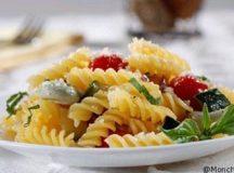 Rotini Barilla sin gluten con vegetales salteados