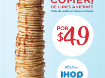 IHOP México anuncia la llegada de su campaña ¡All you can eat pancakes!