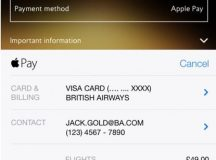Compra tu boleto de avión de British Airways desde tu smarpthone con Apple Pay