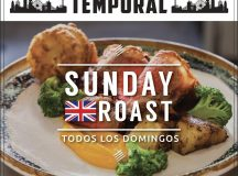 El restaurante Temporal presenta domingos de roast