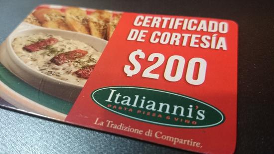 certificado italiannis