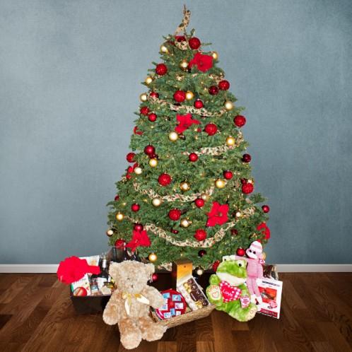 arbol-de-navidad-rojo-dorado