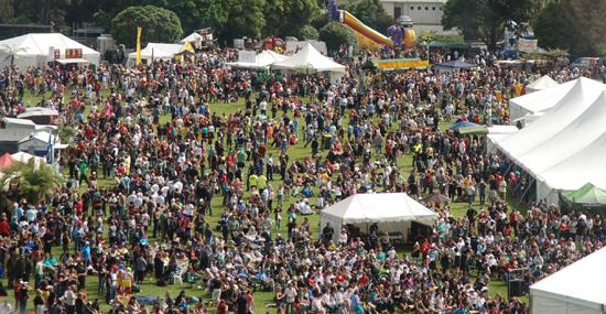Wildfoods Festival Crowd Scene