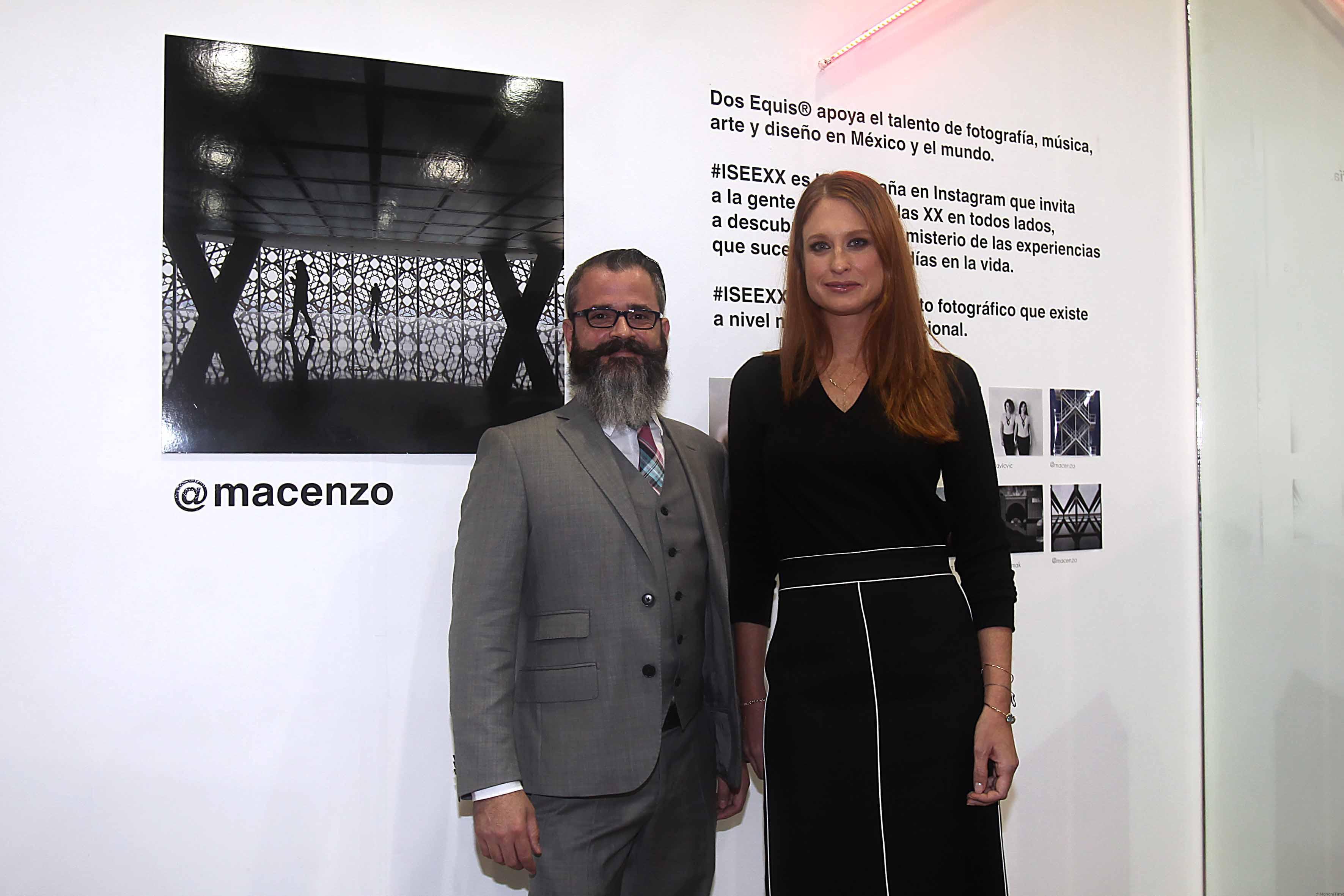 Antonio Matienzo - gerente de Dos Equis®,Zélika García - directora de Zona Maco