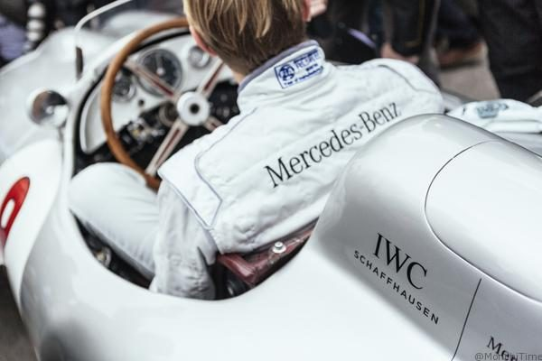 HANDOUT - Mika Haekkinen, 1998 and 1999 Formula One World Champion being interviews in a Mercedes silver arrow during the 74th Goodwood Members' Meeting, The Swiss luxury watch manufacturer IWC Schaffhausen was Timing Partner of the exclusive historic car racing weekend in West Sussex, England. (PHOTOPRESS/IWC/Jack Terry)