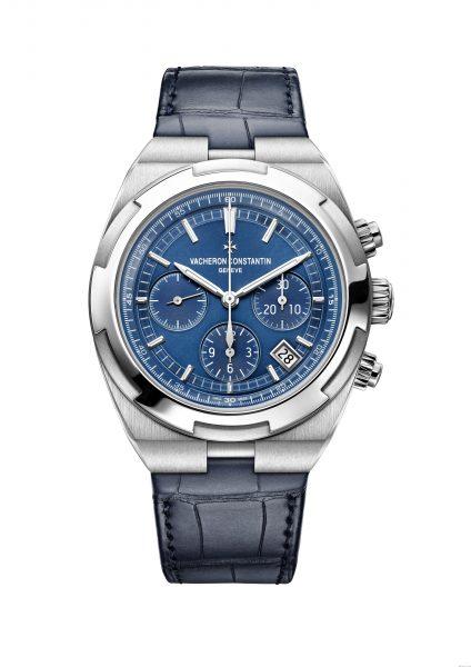 Overseas chrono blue 5500V/110A-B148 bracelet cuir leather