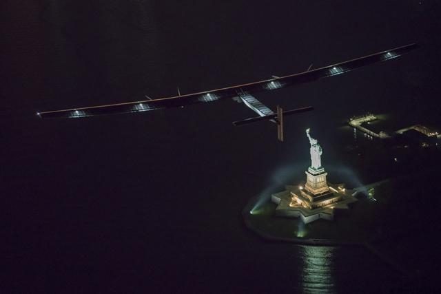 June 11th 2016: Andre Borschberg landed in New York completing the 14th leg of Round the World Journey and marking the final US leg. Departed from Abu Dhabi on march 9th 2015, the Round-the-World Solar Flight will take 500 flight hours and cover 35'000 km. Swiss founders and pilots, Bertrand Piccard and André Borschberg hope to demonstrate how pioneering spirit, innovation and clean technologies can change the world. The duo will take turns flying Solar Impulse 2, changing at each stop and will fly over the Arabian Sea, to India, to Myanmar, to China, across the Pacific Ocean, to the United States, over the Atlantic Ocean to Southern Europe or Northern Africa before finishing the journey by returning to the initial departure point. Landings will be made every few days to switch pilots and organize public events for governments, schools and universities.