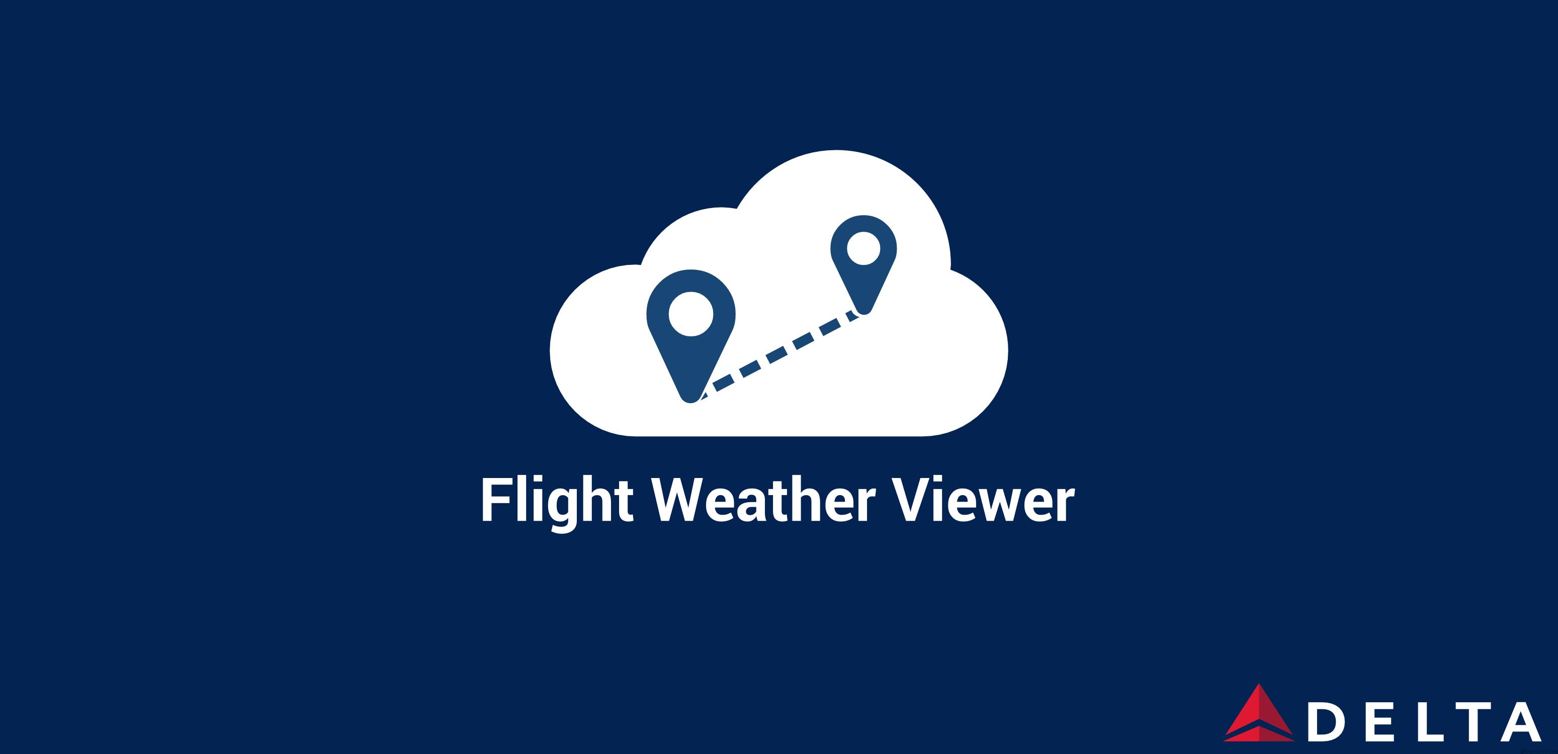 Delta Flight Weather Viewer app