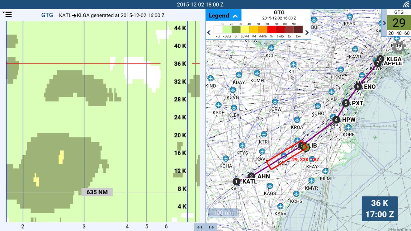 Delta Flight Weather Viewer screenshot
