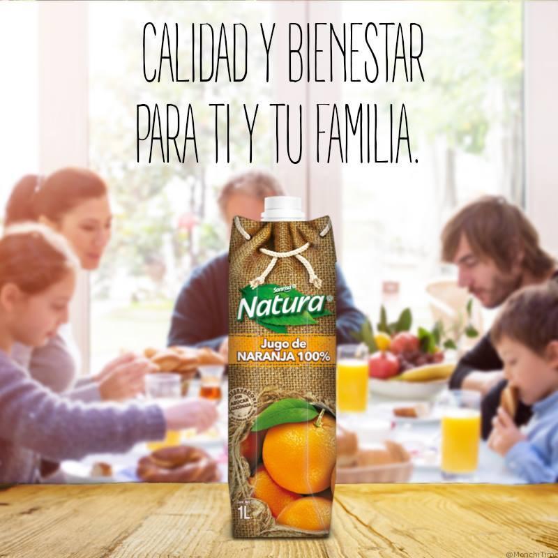 jugo natura sabor naranja