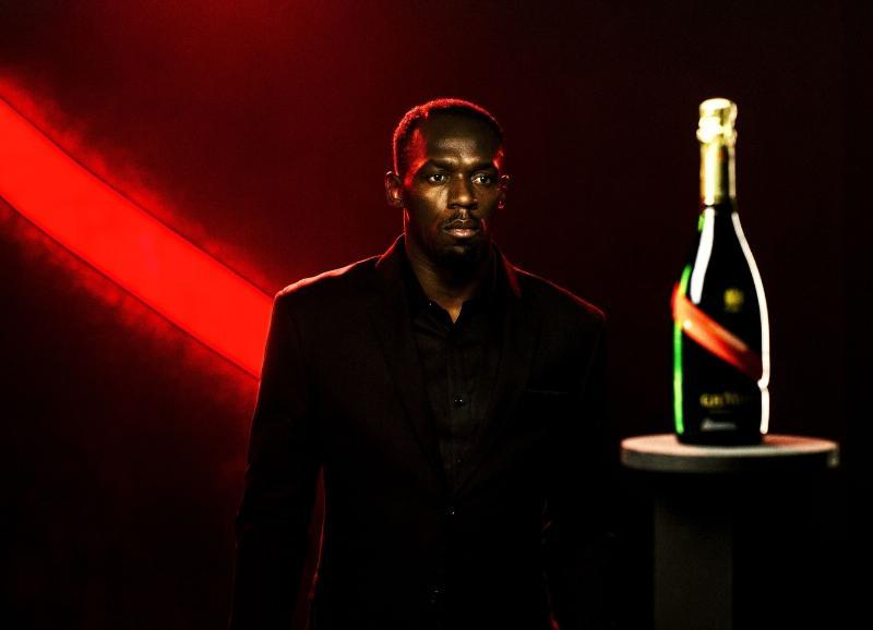 Usain Bolt, Icon of Victory, is appointed the New CEO of Maison Mumm - Photo Credit: Bastien Bonnarme / Willie Beamen (PRNewsFoto/Maison Mumm)